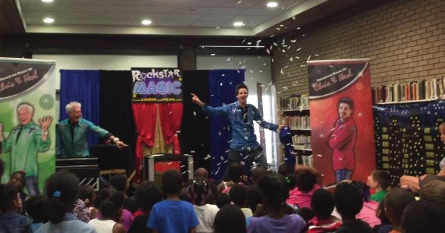Amazing Action Photo from New Bern Area Magicians Performing During Summer Of 2015.