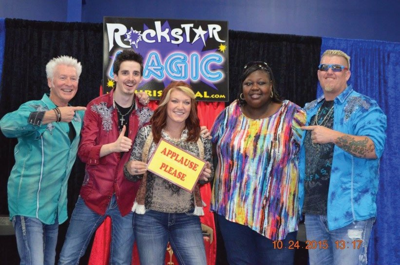 Rockstar Magician, of Raleigh, dazzled many with their magician show just outside of Raleigh in Wendell, North Carolina