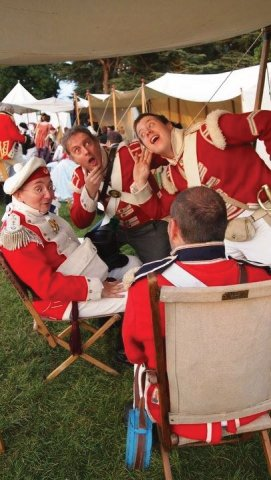 43rd Monmouthshire re-enactment club members listen for the latest group news