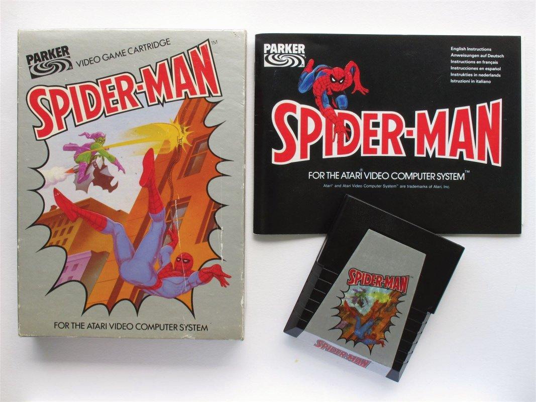 Atari 2600 Spiderman game cardridge