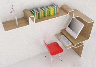 space saving desk design