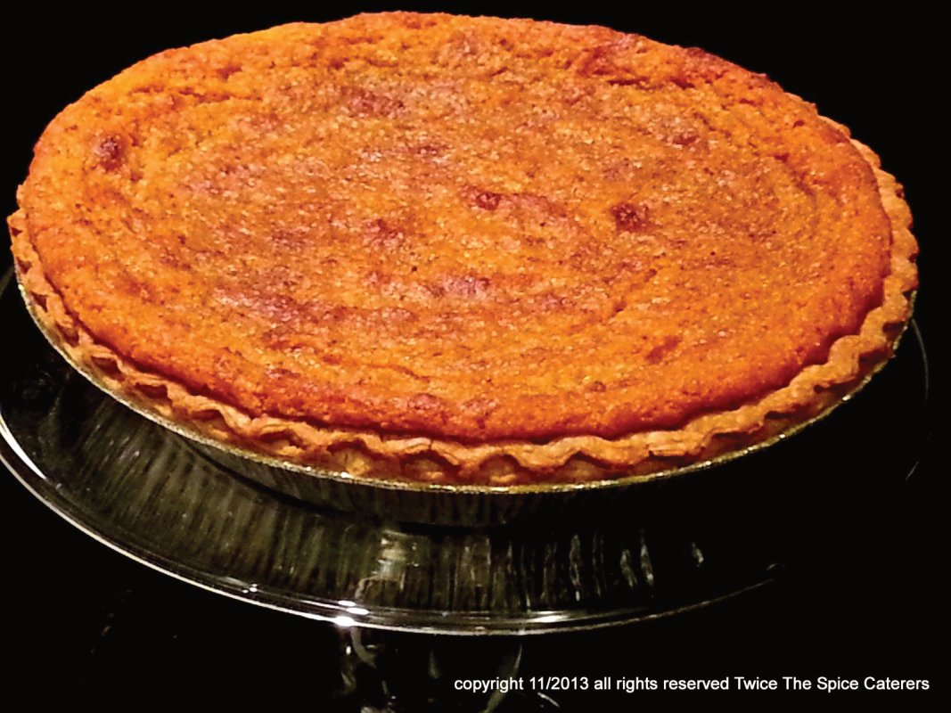 Sweet Potato Pie made with all natural ingredients. Ready for your holiday