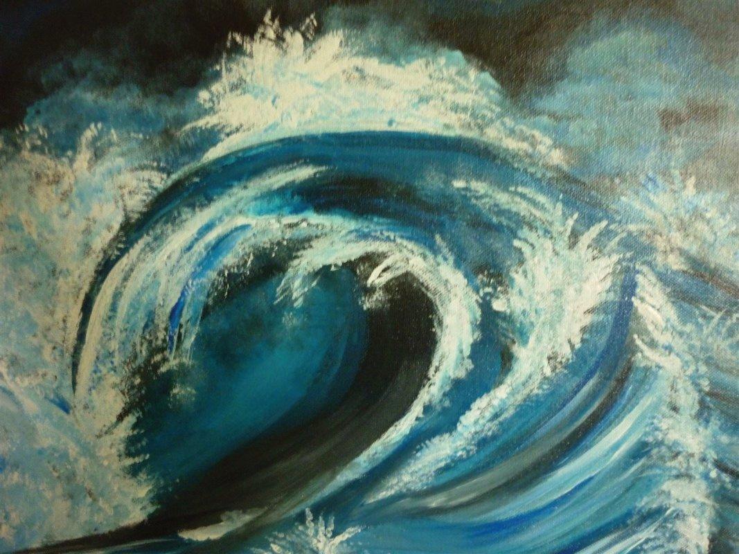Wenn die Wellen über mir zusammenschlagen-Malen in der Trauer mit Regina Landsiedel-Gerlach
