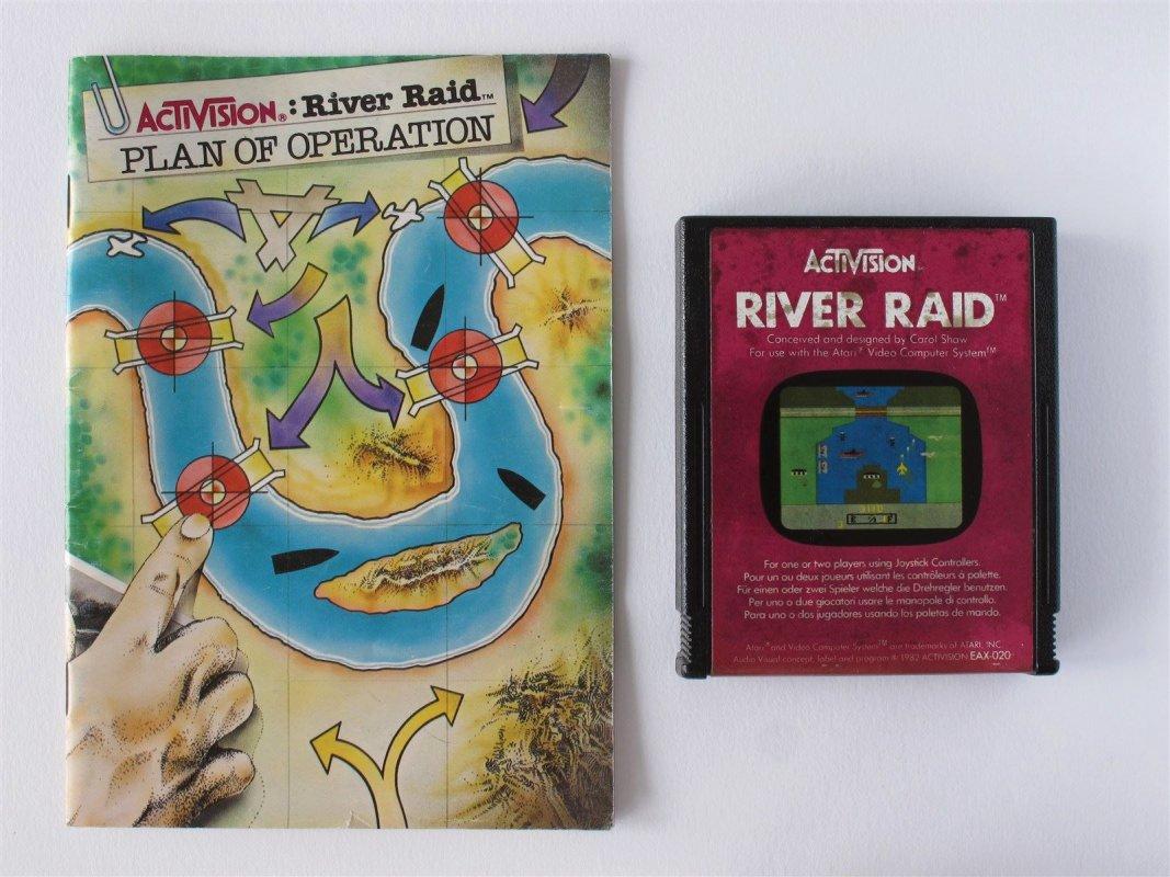 Atari 2600 River Raid game cardridge