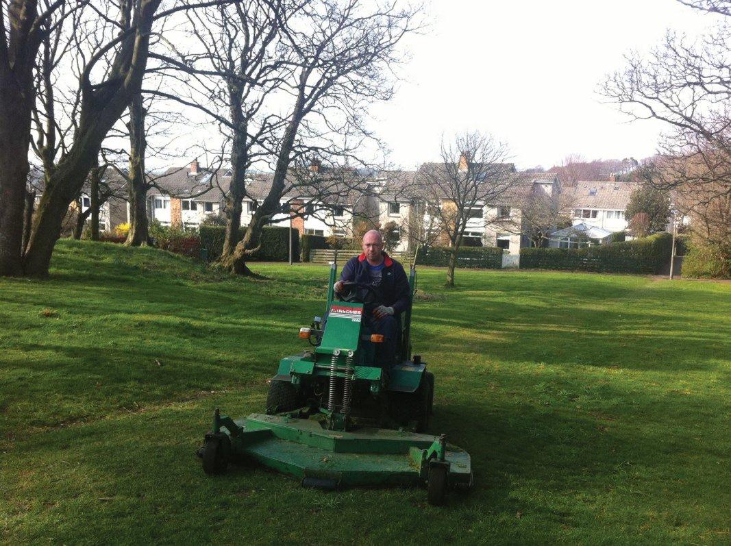 Large area grass cutting service