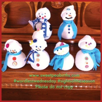 : We made snowman decorations - a little SPB snow family :)