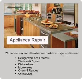 We service any and all makes and models of major appliances.