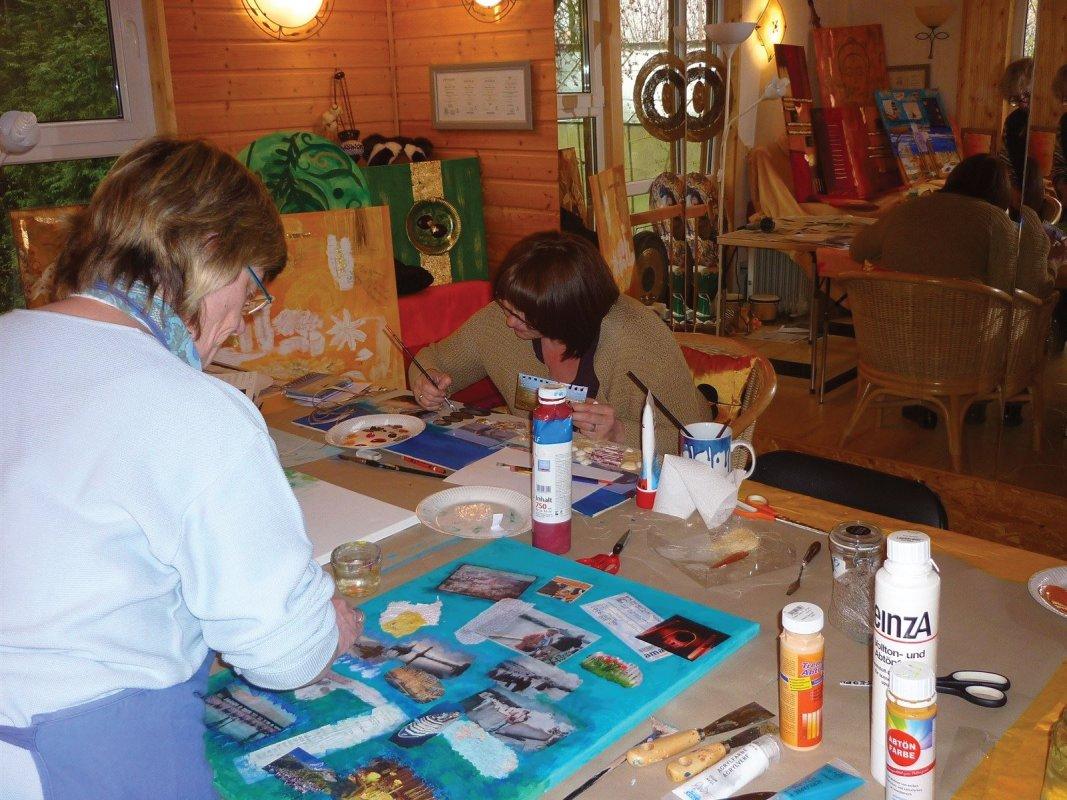 Collage-Workshop,Regina Landsiedel-Gerlach,VHS Bad Hersfeld-Rotenburg