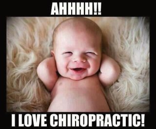 Babies get adjusted too! Source unknown