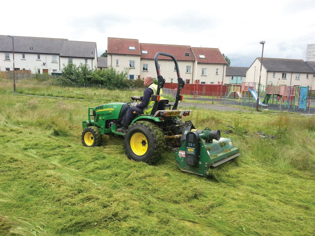 Tractor and flail cutting and clearing works