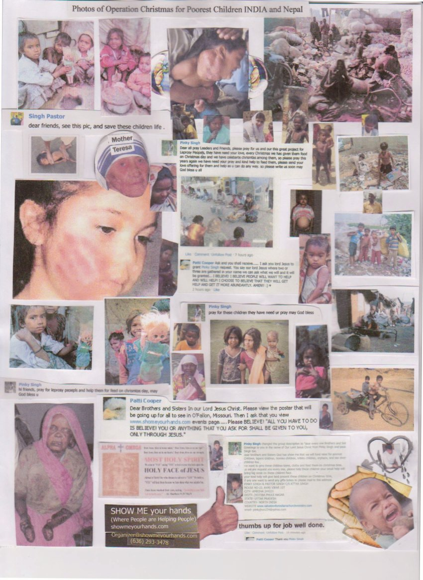 Pictures of children who need our help
