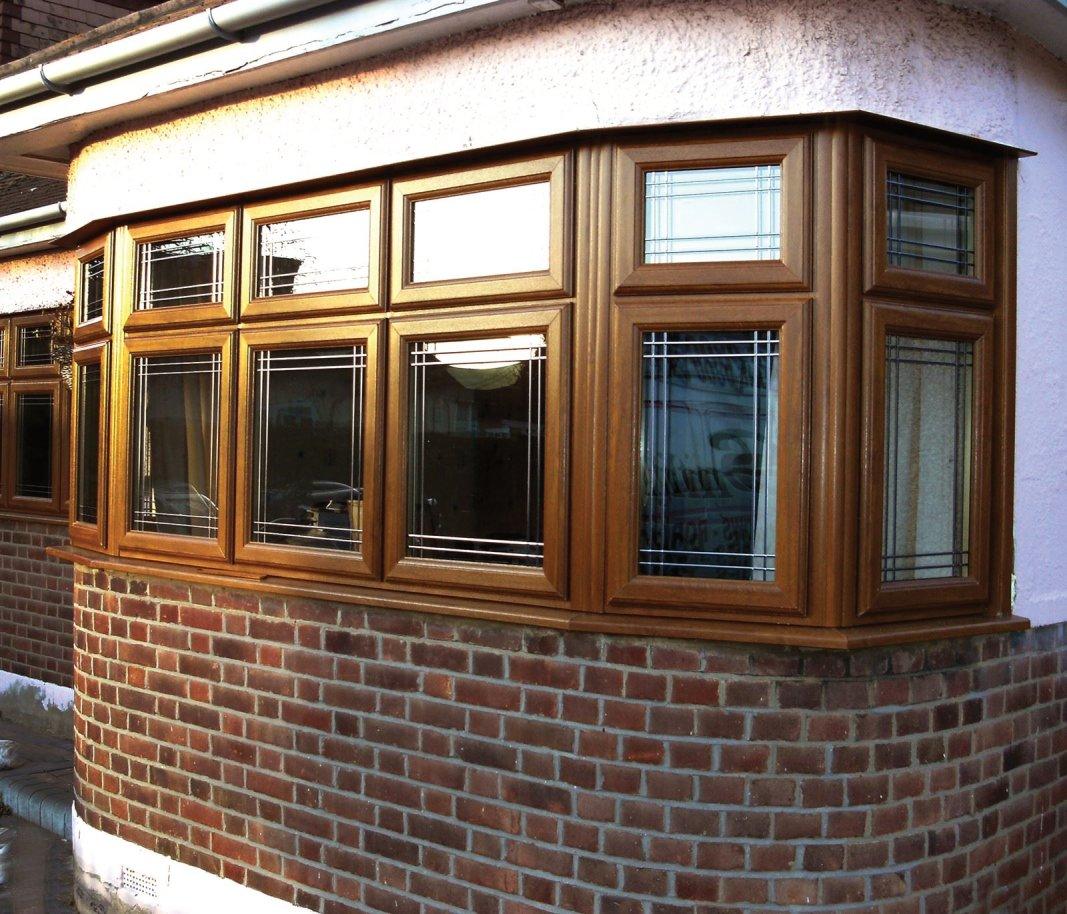 Light Oak bay window. Hockley, Essex.