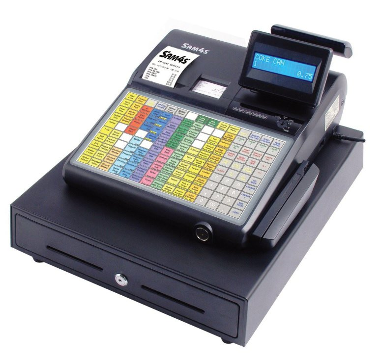 Tills and Rolls Sam4s ER-900 series cash register