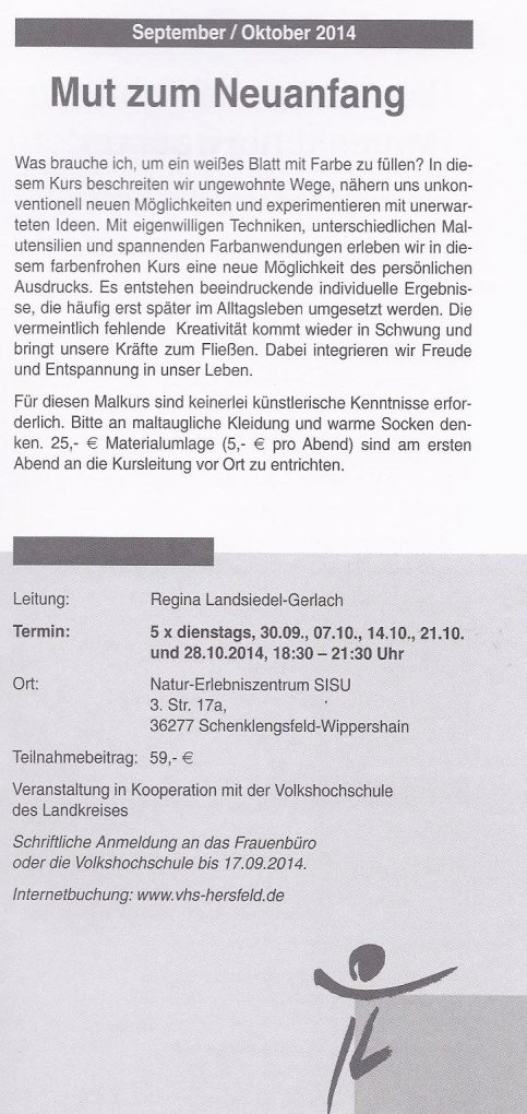 Intensiv-Malkurs für Frauen mit Regina Landsiedel-Gerlach
