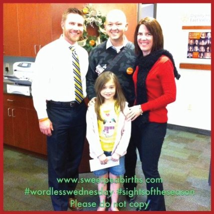 : Our first Sweet Pea delivering a Christmas gift to the Dignity Health Foundation - East Valley chapter