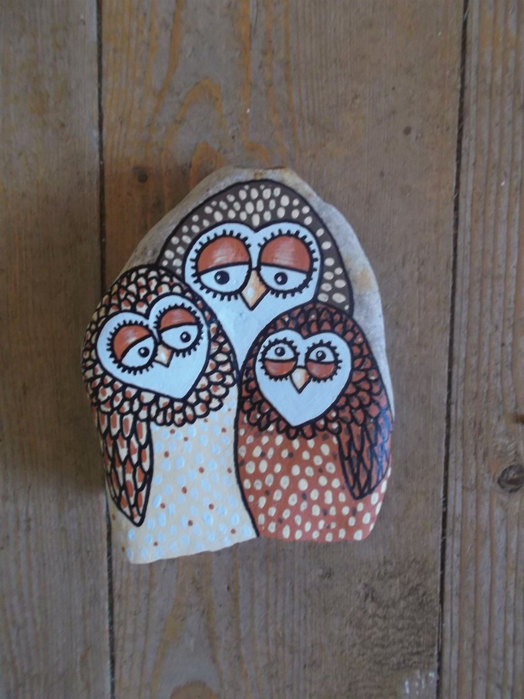 trio of owls