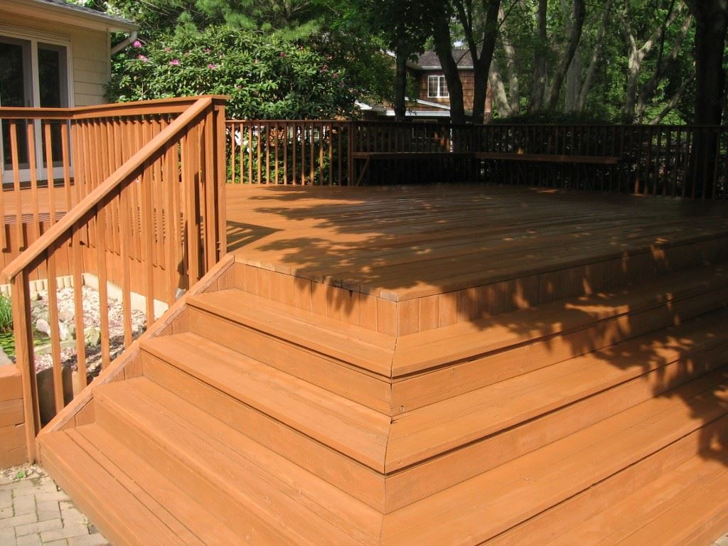 After staining with Sherwin-Williams Cedar Bark