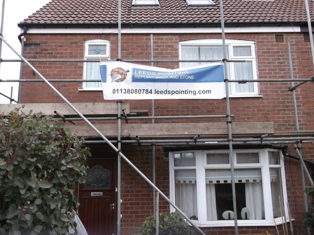 the front has been repointed by leeds pointing .we offer free surveys and quotes