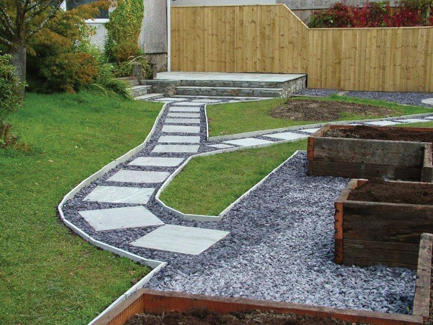 Sandstone path and patio, Carmarthen, Carmarthenshire