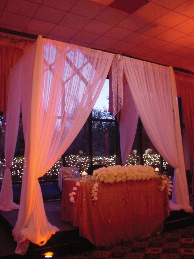 A simple Sweet Heart Table Drape