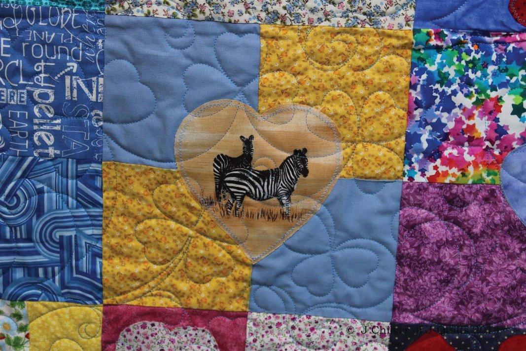 Lovely Zebra block