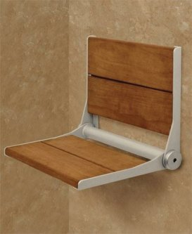folding wood shower seat