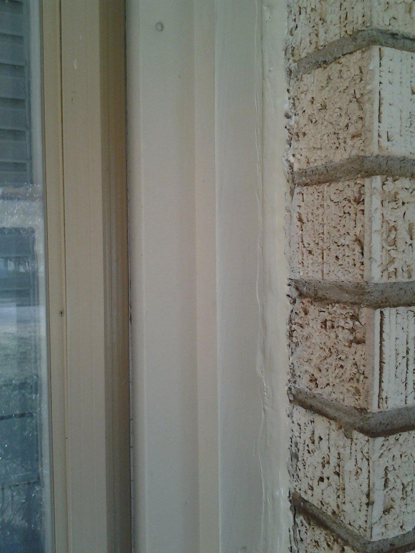 window caulked and sealed