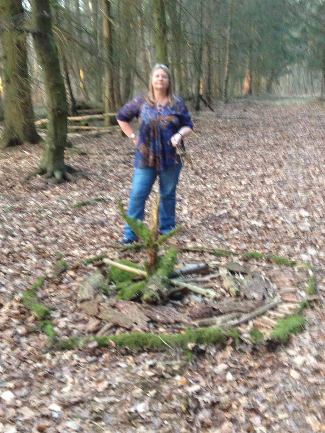 Waldmandala-Kreis des Lebens in der Natur-mit Regina Landsiedel-Gerlach