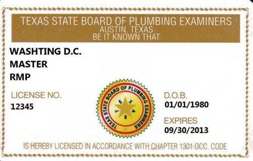 Texas plumbing licensed