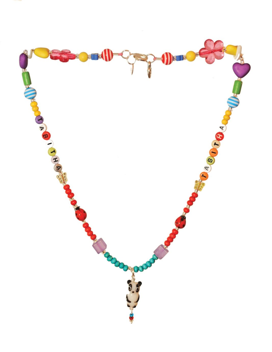 The winning necklace design made up by Beadoir for our winner