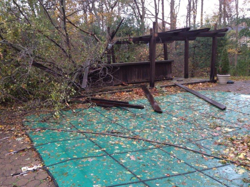 : Sandy damage