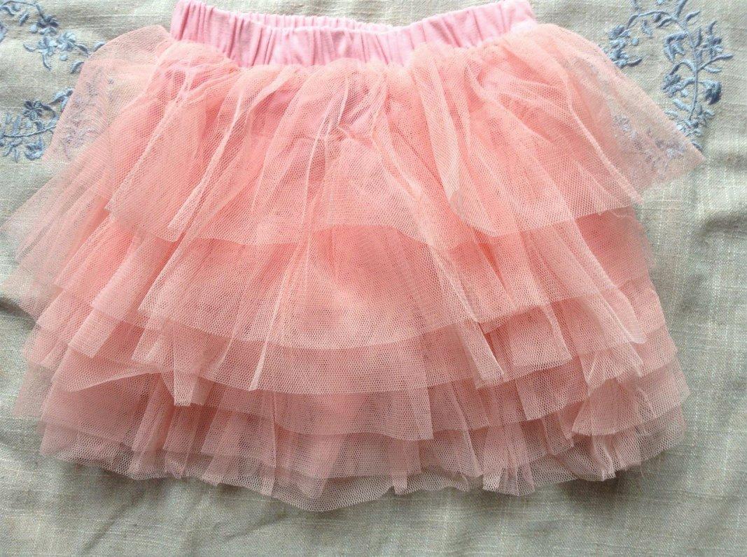 Pink layered skirt