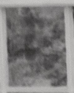Enlargement: Left Window, Lower Half, Center Pane (Full Spectrum)