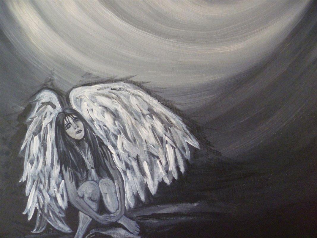 Der verlassene Schutzengel- Trauerwandlung in der Kunsttherapie