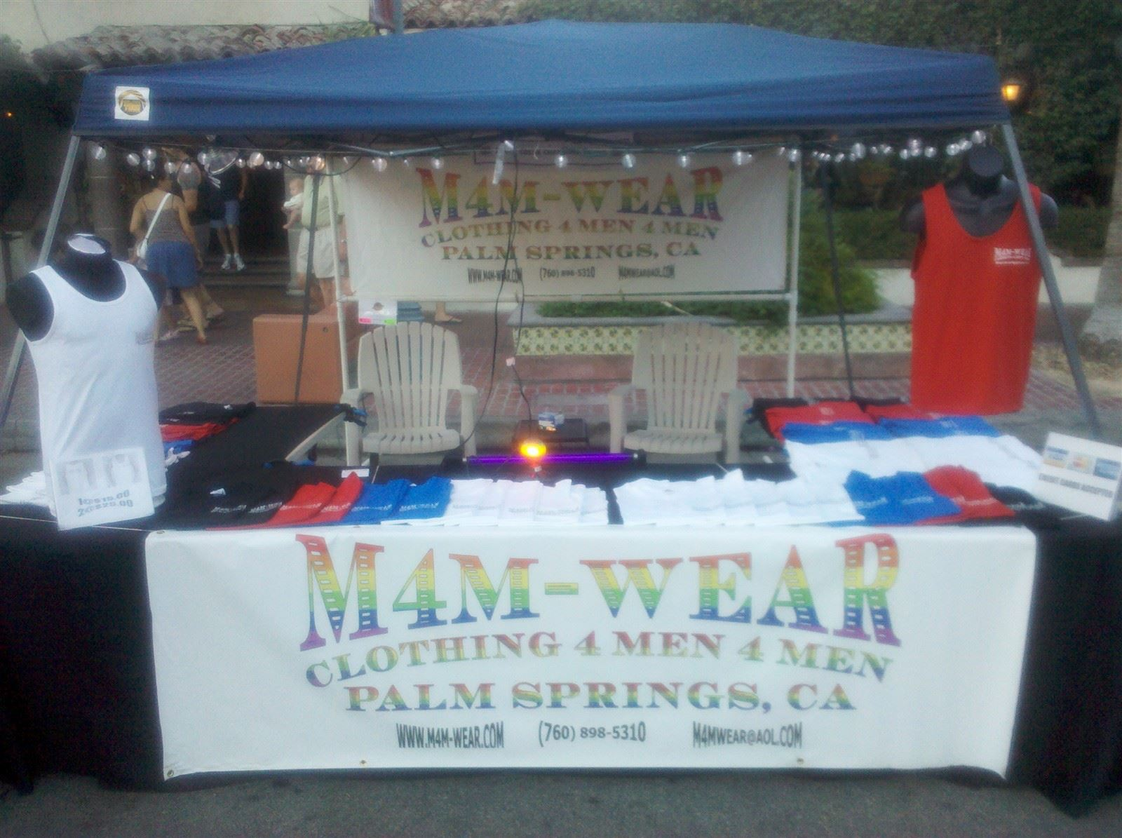 M4M-WEAR Booth at Palm Springs Village Fest