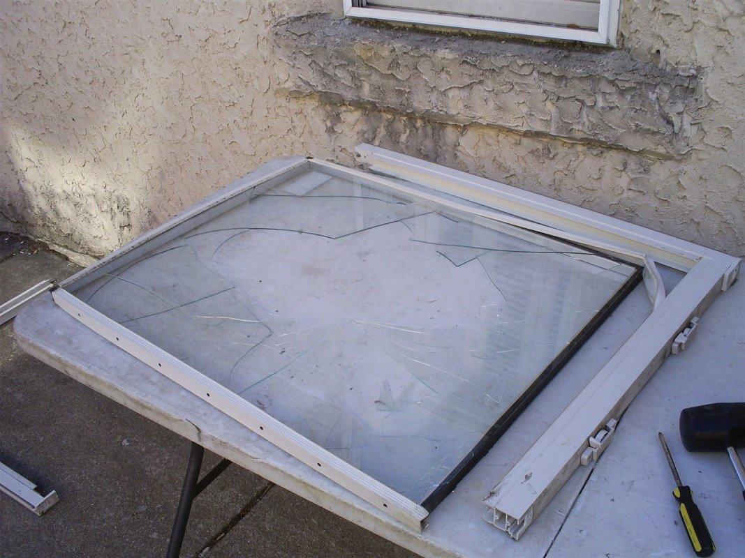 Philadelphia Pa glass repair - in progress