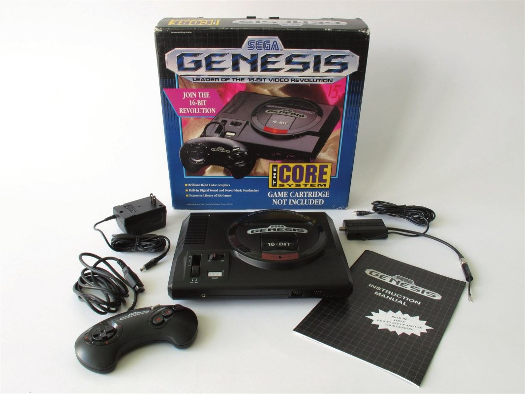 Sega Genesis 16 bit console, boxed, mint condition