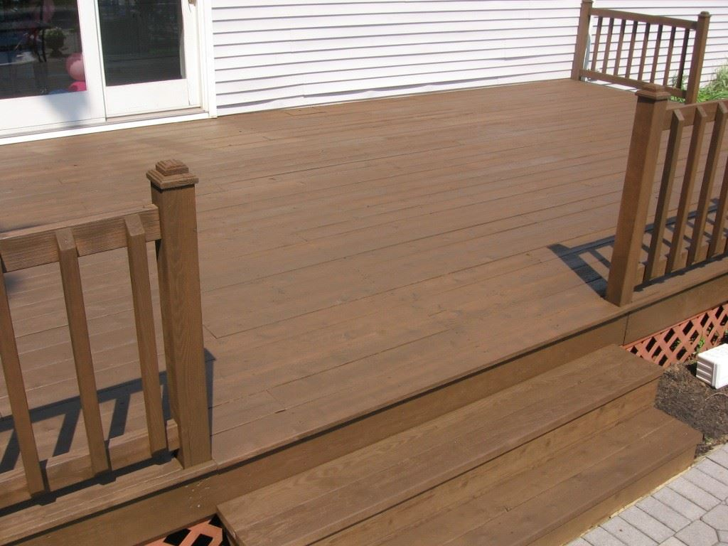 After Staining with Sherwin williams Semi-transparent Hawthorne