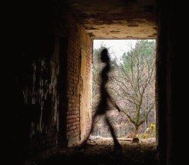 Female-ghost-passing-through-the-corridor