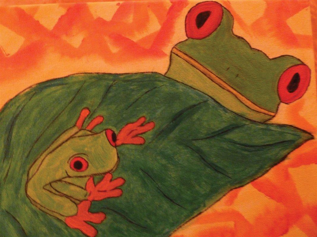 Tier-Symbol:Frosch in der Kunsttherapie