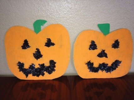 Finished pumpkins.