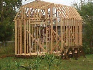 wood shed frame