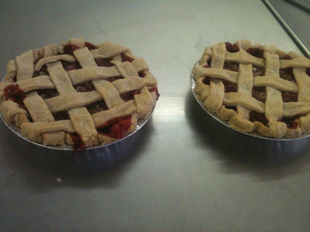 sour cherry pies