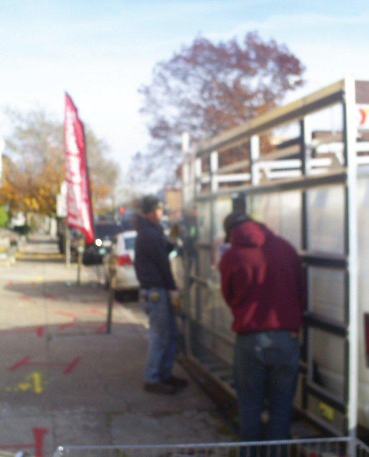window glass repair in Philadelphia Pa - unloading the glass truck