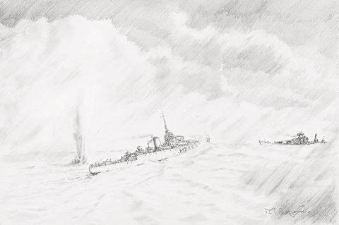 Unequal Struggle - HMS Bramble & The Hipper