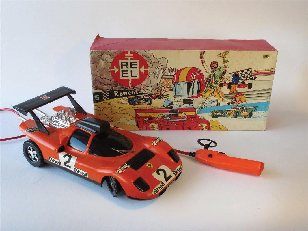 Remote control racecar, boxed