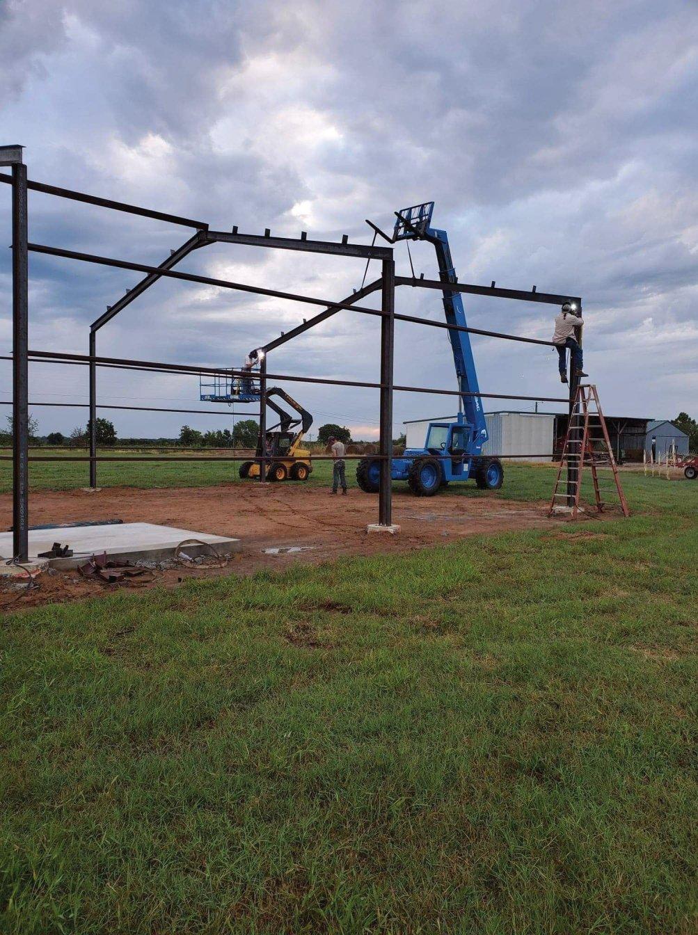 Weld up steel building