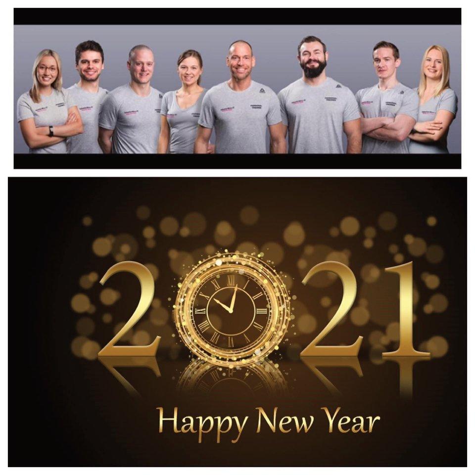 Euer Personal Trainer Team für Bochum wünscht ein frohes neues Jahr.