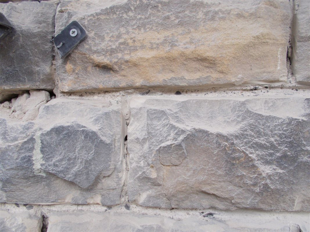cut raked out mortar joints