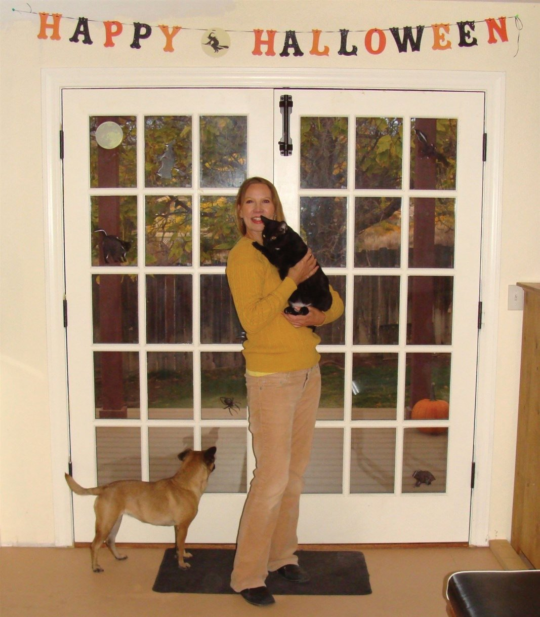 Cat Book Author with Halloween Creatures (2012)